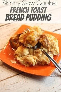 Skinny Slow Cooker French Toast Bread Pudding Recipe - from RecipeBoy.com