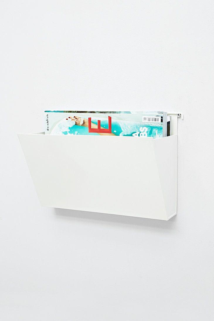 Wall Bin Shelf in White