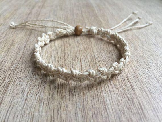 Hemp Anklet, Braided Anklet, Macrame Anklet, Surfer Anklet, Gift for her, Unisex anklet, Beach Anklets,  Handmade Jewelry, Hemp Bracelet