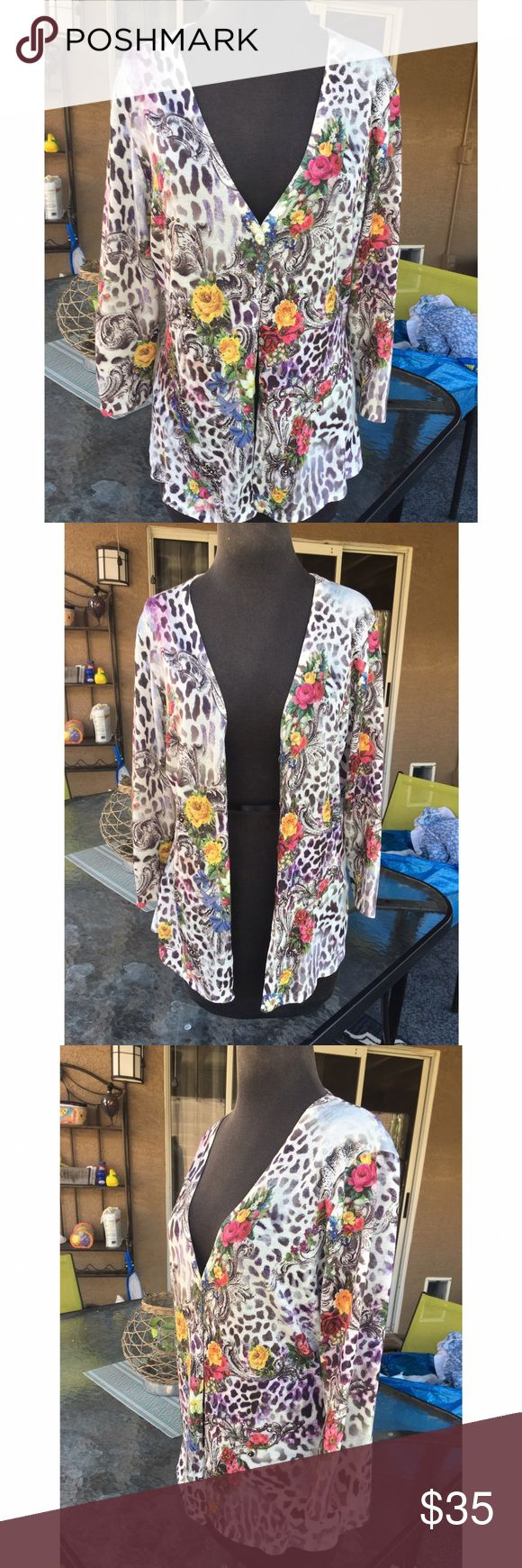 Alberto Makali chita cardigan Beutiful cheetah cardigan . Super soft and in great condition. 🌸bundle to save, offers welcomed Alberto Makali Sweaters Cardigans