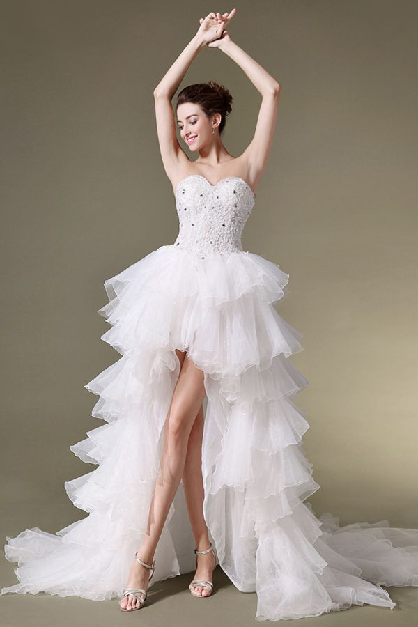 Trending  best High Low Wedding Dresses images on Pinterest Wedding dressses Marriage and Wedding gowns