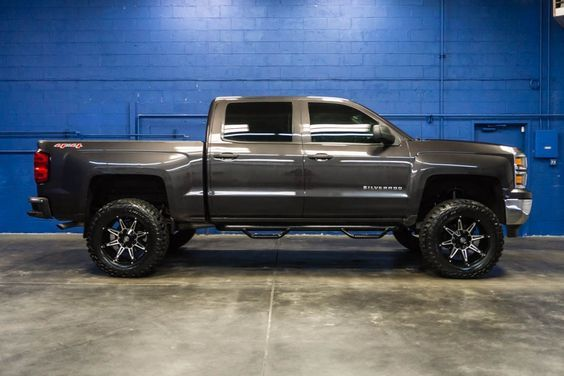 LIFTED 2014 Chevrolet Silverado 1500 LT 4x4 Truck with Custom Wheels and Tires For Sale at Northwest Motorsport! #nwmsrocks