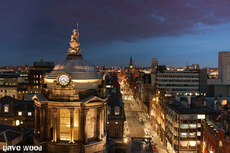 Liverpool Town Hall and Dale Street View from the Rooftop