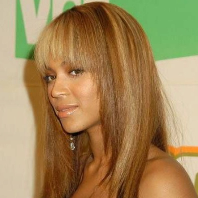 Honey Blonde Highlights On Jet Black Hair