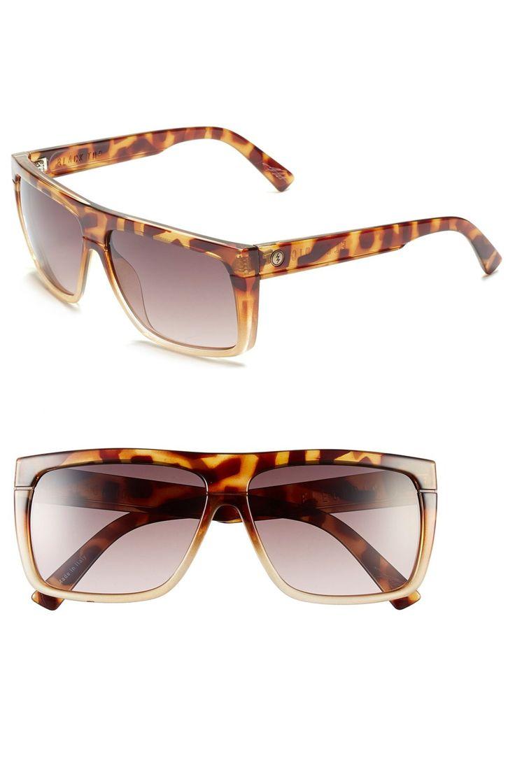 Men's Black Top Flat Top Sunglasses