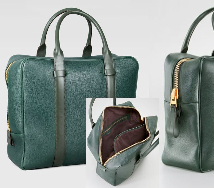 Must Have : Tom ford Men's Bag Buckley Square Briefcase Green . . . Favorite