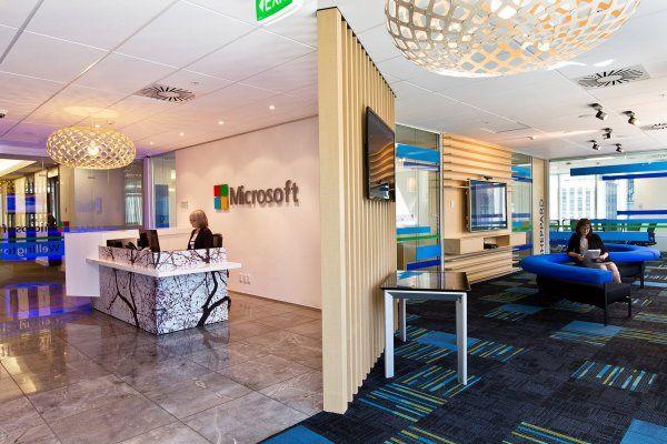 Microsoft Wellington Office Fitout » Stephenson & Turner