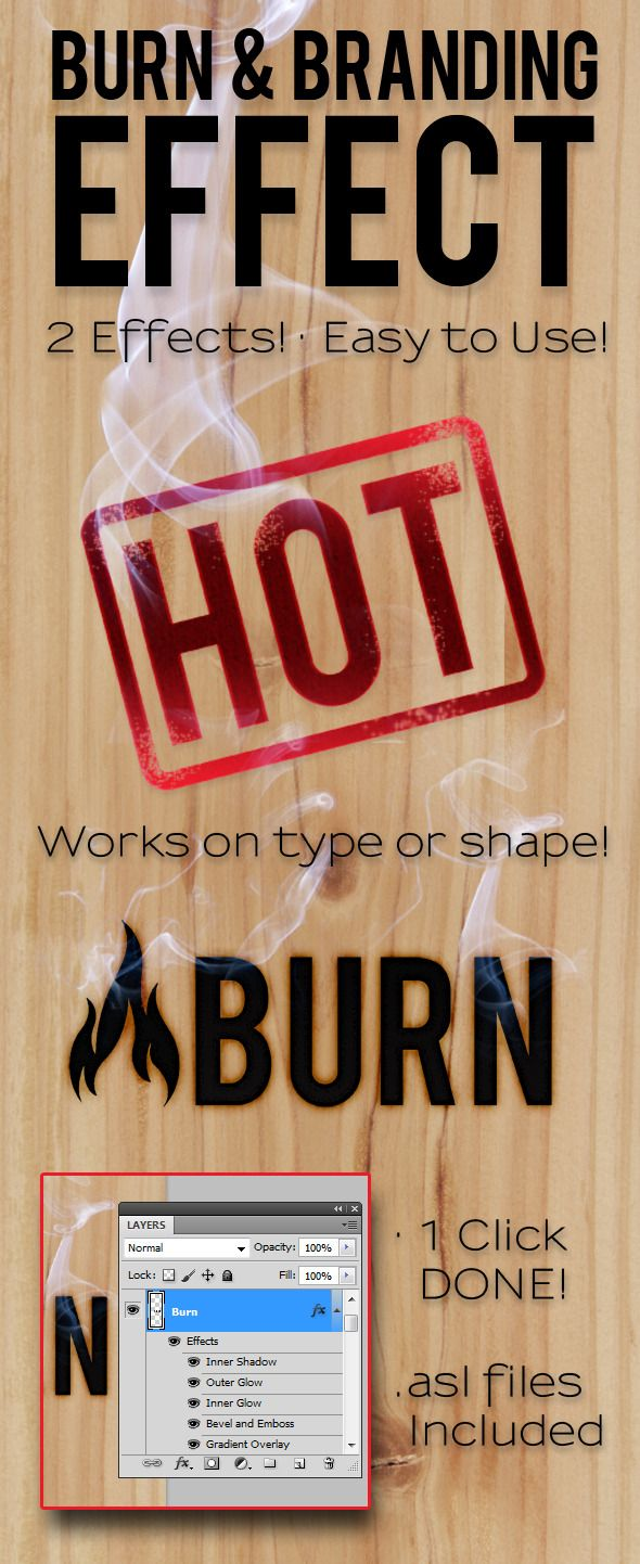 Burn & Branding Effects  #text #web #western • Available here → http://graphicriver.net/item/burn-branding-effects/307727?s_rank=1233&ref=pxcr