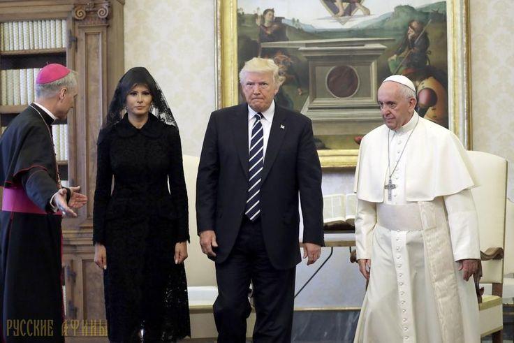 Папа Римский сухо встретил Трампа и благословил Меланью http://feedproxy.google.com/~r/russianathens/~3/r1L0D9_1mVY/21393-papa-rimskij-sukho-vstretil-trampa-i-blagoslovil-melanyu.html  Получасовая встреча Папы Римского с Дональдом Трампом получилась не очень душевной, а скорее прохладной. Как сообщает издание «The Independent»,понтифик сухо поприветствовал Трампа, без тени улыбки на лице и приступил к деловым переговорам.