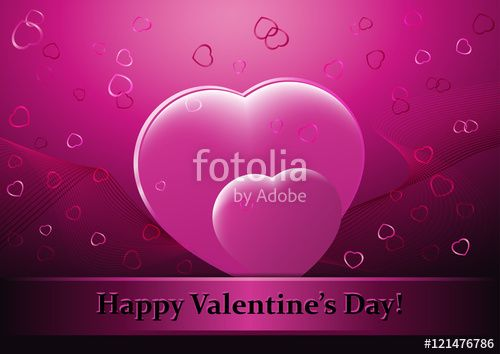 """Download the royalty-free photo """"Happy Valentine's Day image. Contains heart shapes. Copy space for your own text."""" created by CTRLH at the lowest price on Fotolia.com. Browse our cheap image bank online to find the perfect stock photo for your marketing projects!"""