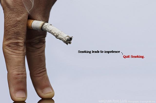 SMOKING CAUSES Erectile Disfunction
