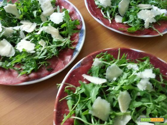 Bresaola con rucola e grana  #ricette #food #recipes