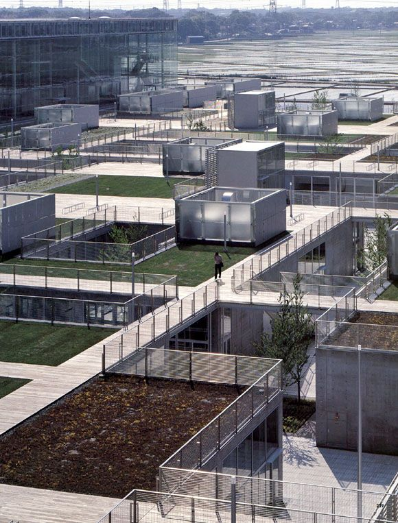 rooftop living: saitama prefectural university by riken yamamoto & field shop