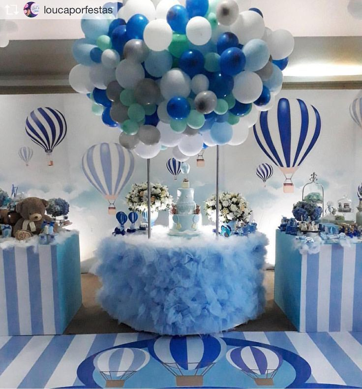 Baby Shower Ideas For A Baby Boy Hot Air Balloons Are So Cute