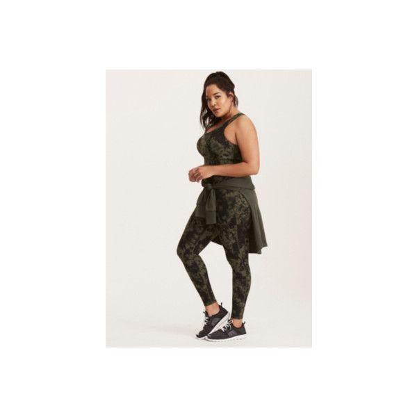 Torrid Tie Dye Print Leggings ($41) ❤ liked on Polyvore featuring activewear, activewear pants, active, green, plus size, sport bottoms, sport leggings, plus size sportswear, sexy activewear and plus size activewear