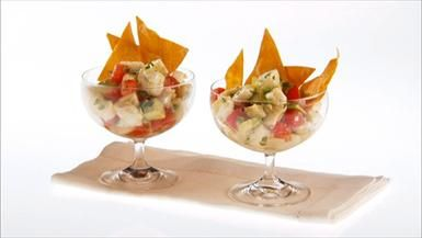 My favorite ceviche!! Perfect for Cinco de Mayo, for the Kentucky Derby...and a delicious summer party dish!: Food Network, Easy To Follow Halibut, Ceviche Recipe, Giada De Laurentiis, Salad Recipes, Homemade Tortilla, Halibut Ceviche