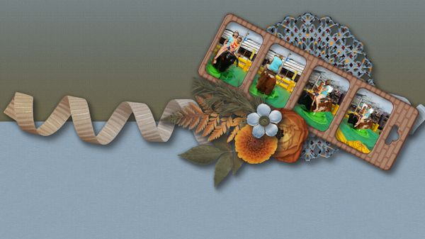 Desktop September - Digital Scrapbooking Layout I created using At the Frontier…