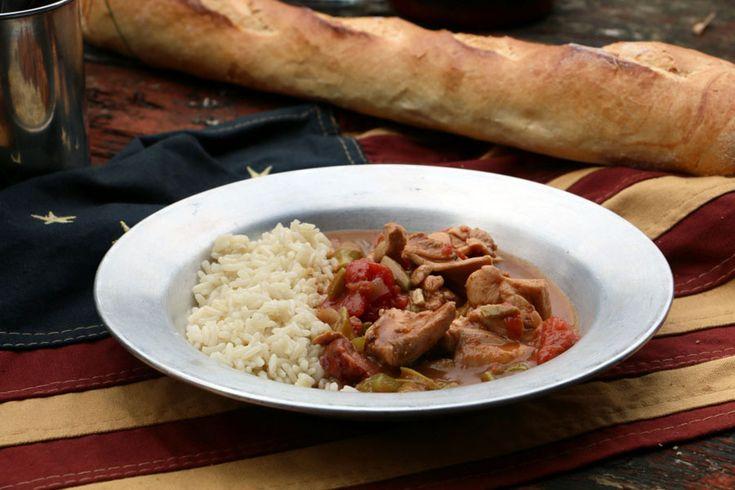 Chicken and Andouille Gumbo (Gumbo mit Huhn und Wurst)