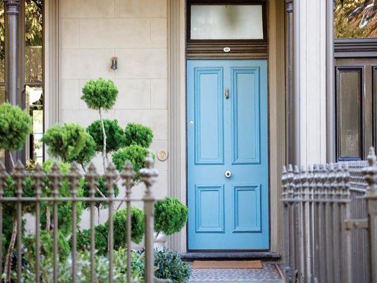 O'Connor & Houle, Melbourne. Porter's Paints custom colour blue door.