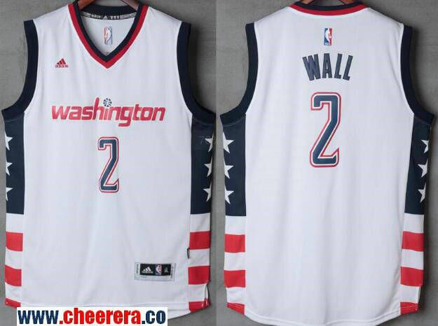super popular baa57 ea6ff Men's Washington Wizards #2 John Wall White Stitched NBA ...