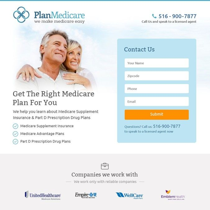 Medicare Supplement Plan Lead Generation Page by Eugenee.web