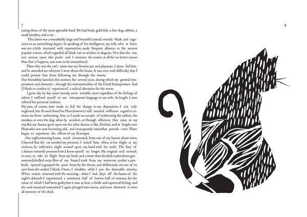 Illustration | The black cat | by Meral Jusufi