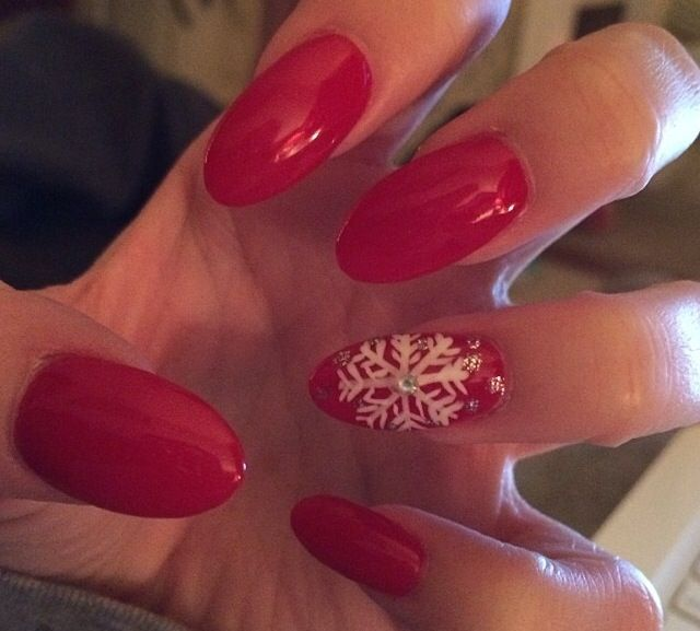 Christmas acrylic nails | Nails ♥️ | Pinterest