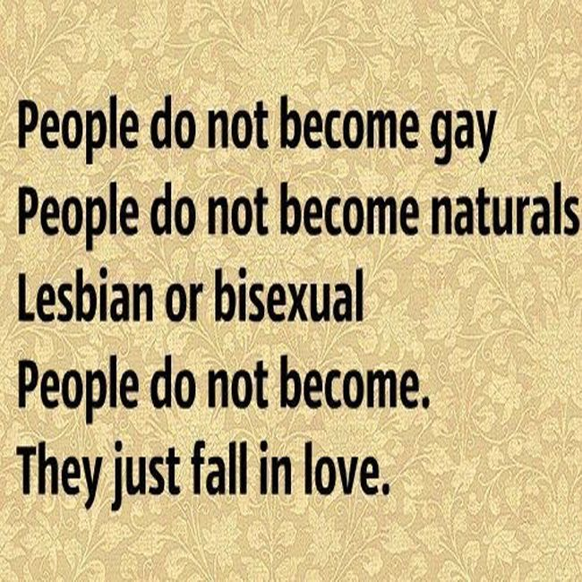 People do not become LGBT , They just fall in love…
