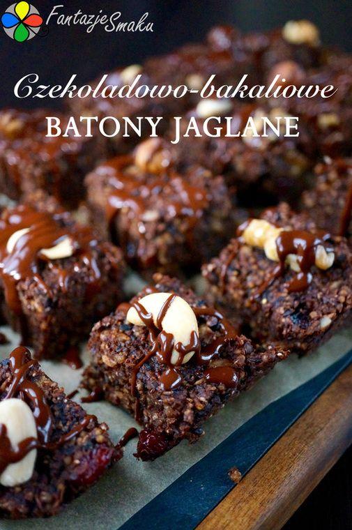 Czekoladowo-bakaliowe batony jaglane http://fantazjesmaku.weebly.com/blog-kulinarny/czekoladowo-bakaliowe-batony-z-kaszy-jaglanej