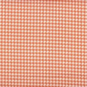 Houndstooth fabric,Orange and white houndstooth fabric,100% cotton,Quilt fabric,Apparel fabric,Craft,Sold by FAT QUARTER INCREMENTS by JacobandChloesLLC on Etsy
