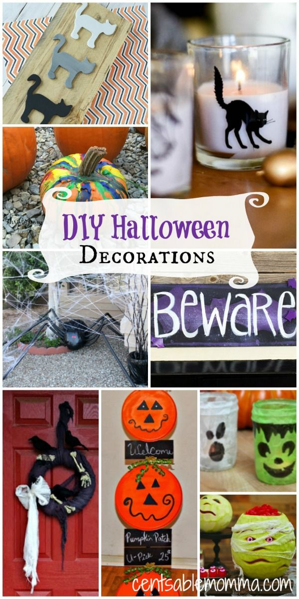 250 best !!!ALL THINGS HALLOWEEN!!! images on Pinterest Halloween - halloween decorations to make on your own