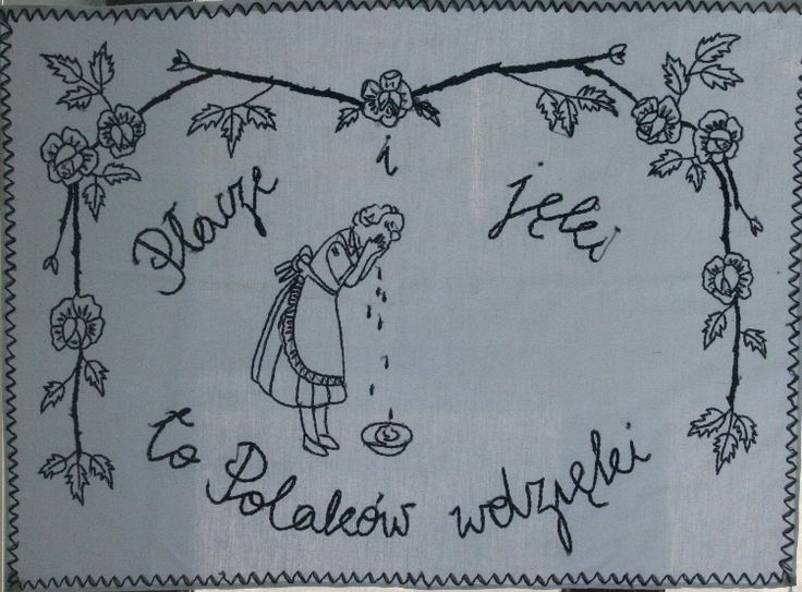 vintage polish kitchen wall hanging. 'tears are charms of poles'