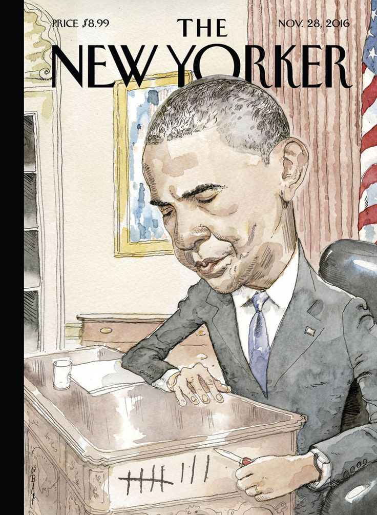 "The New Yorker - Monday, November 28, 2016 - Issue # 4665 - Vol. 92 - N° 39 - « The Tech Issue » - Cover ""Counting"" by Barry Blitt"