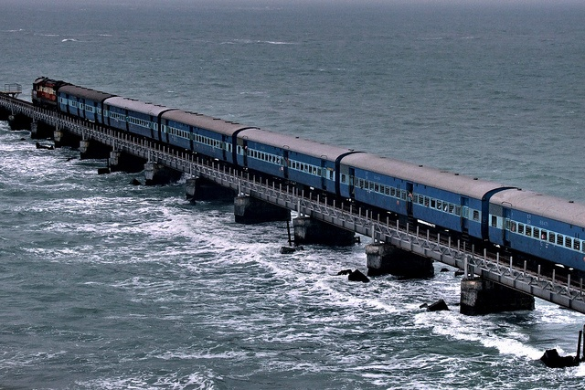 Pamban bridge, Rameswaram, Indian Railways | Flickr - Photo Sharing! Who says trains can't sail ;)