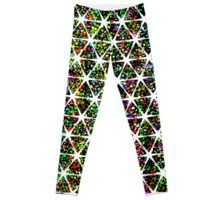 stars and confetti paint splatter pattern leggings