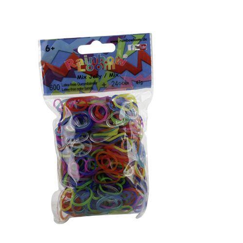 Rainbow Loom Mix doorzichtig met 24 clipjes. Nieuwste rage, wees er snel bij! Maak met de clips en elastiekjes de mooiste armbandjes en accessoires. Dit zakje bevat een mix van maar liefst 600 doorzichtige elastiekjes en 24 clips.  http://www.planethappy.nl/rainbow-loom-mix-doorzichtig-met-24-clips.html