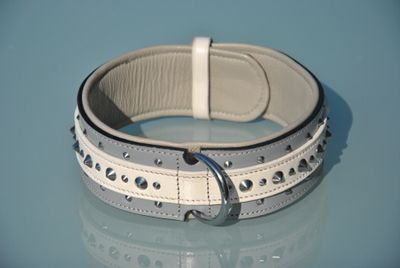Halsband Arensuphis (GR/WI-ZW) * L (NE)  - www.Staffs-Exclusives.com - Top Quality 4 Top Dogs!