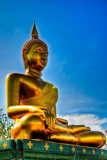 Golden Buddha by Adrian Evans