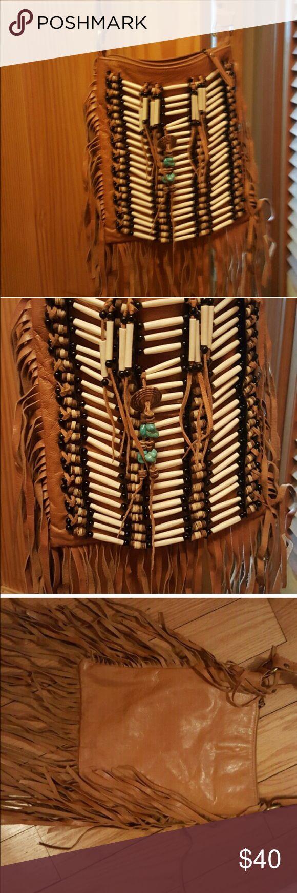 Fringe boho bagSOLDDDD Just in time for summer and spring festivals! Amazing details Bags