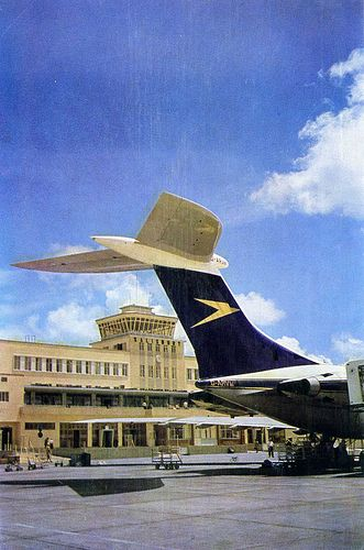 BOAC Standard VC10 (Series 1100) G-ARVM, on the apron at Salisbury (now: Harare) airport, in Zimbabwe (then: Rhodesia).