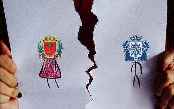 Prefeitura de Curitiba termina 'casamento' com colega do Rio no Facebook (Foto: Reprodução / Facebook)