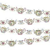 Talking Tables Truly Alice Hanging Teapot Bunting (4m) for a Tea Party or Birthday, multicolour