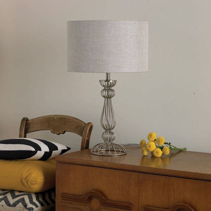 Noho structural wire table lamp chrome