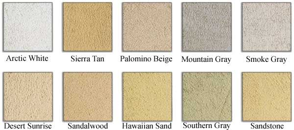 Sandstone For Stucco Exterior Color Selections