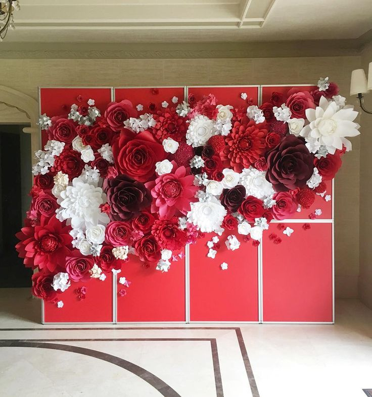 enjoy our new paper flower wall  paperflowerwall