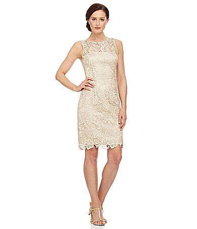 Adrianna Papell Petite Lace Dress #Dillards