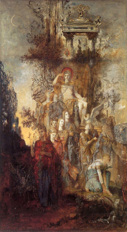 Gustave Moreau // Les muses quittent leur père Apollon pour aller illuminer le monde