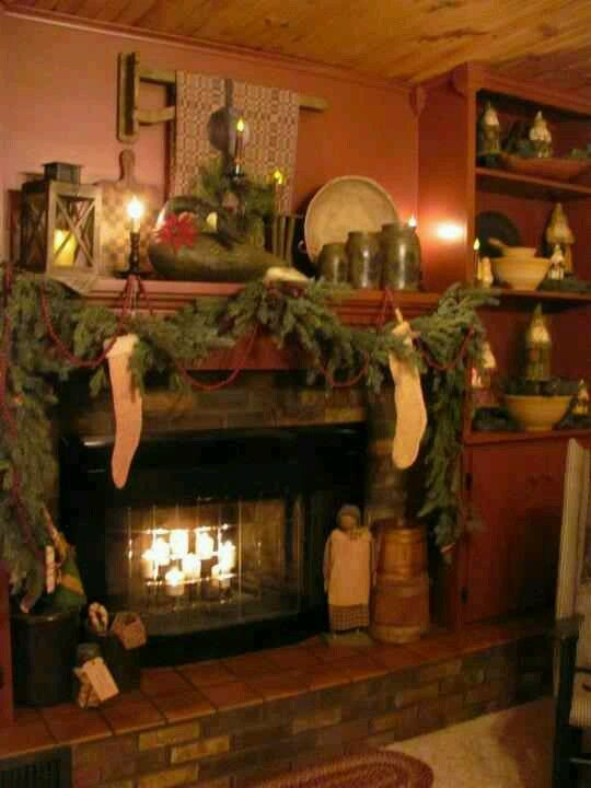 Christmas Fireplaces Pictures Best 25 Christmas Fireplace Ideas On Pinterest  Christmas Mantle