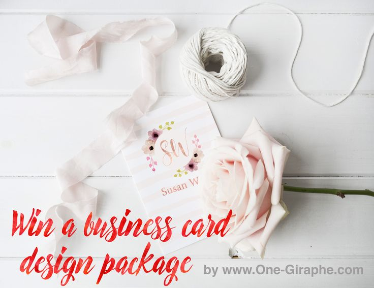 Win a business card design package!! #businesscard #etsy #etsyseller #behance #dribbble #designer #flowers #watercolor #contest #needlogo #creative
