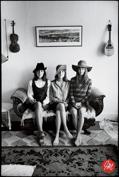 Joan Baez, Pauline Baez-Marden, & Mimi Baez-Farina by Jim Marshall